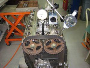 エンジンオーバホール バルブタイミング測定